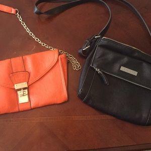 Handbags - Orange purse, black purse